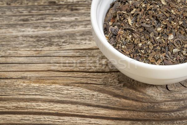 Hínár tál fa copy space diéta gyógynövény Stock fotó © PixelsAway