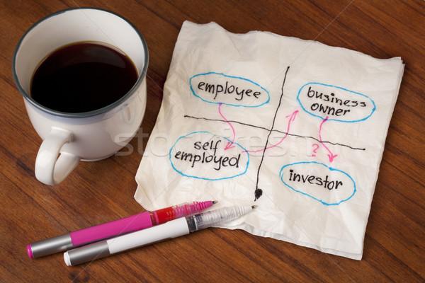 Alkalmazott karrier műszak tervez foglalkoztatott üzlet Stock fotó © PixelsAway