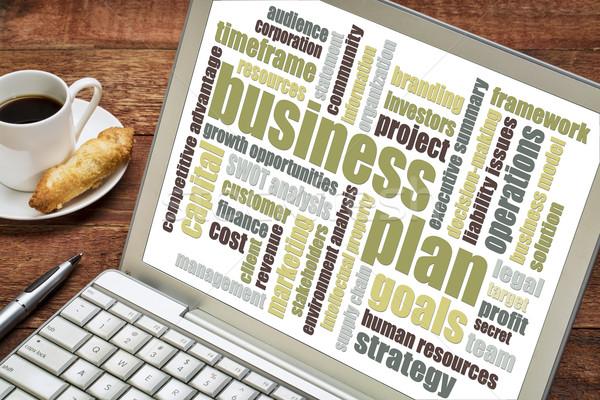 business plan word cloud Stock photo © PixelsAway