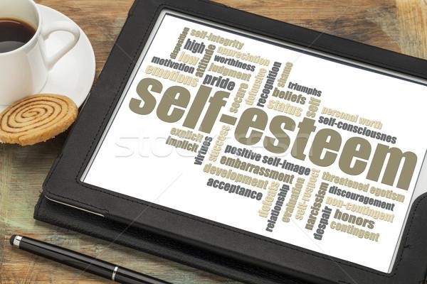 self-esteem word cloud Stock photo © PixelsAway