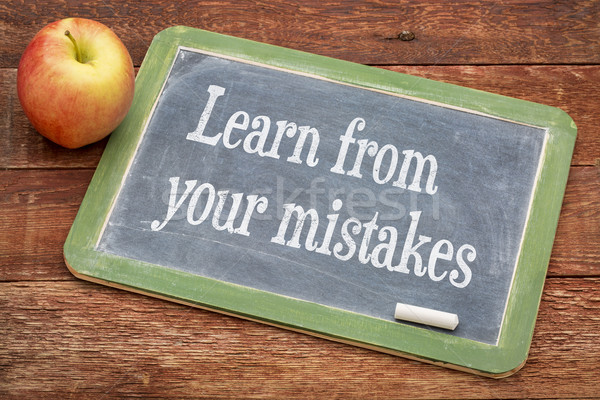 Learn from your mistakes Stock photo © PixelsAway