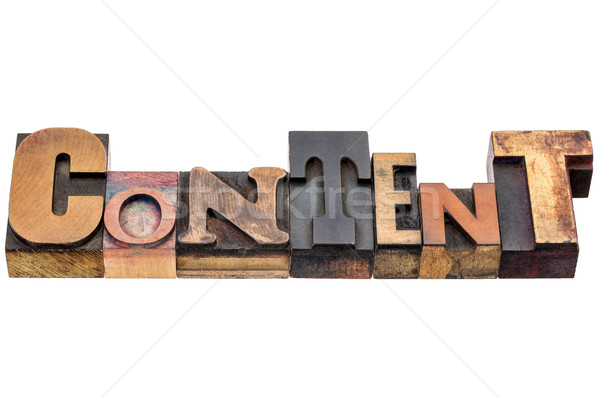 Içerik kelime karışık ahşap tip soyut Stok fotoğraf © PixelsAway