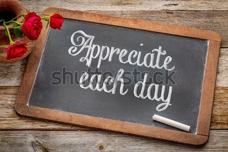 blank vintage slate  blackboard Stock photo © PixelsAway