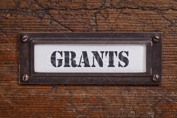 grants file cabinet label Stock photo © PixelsAway