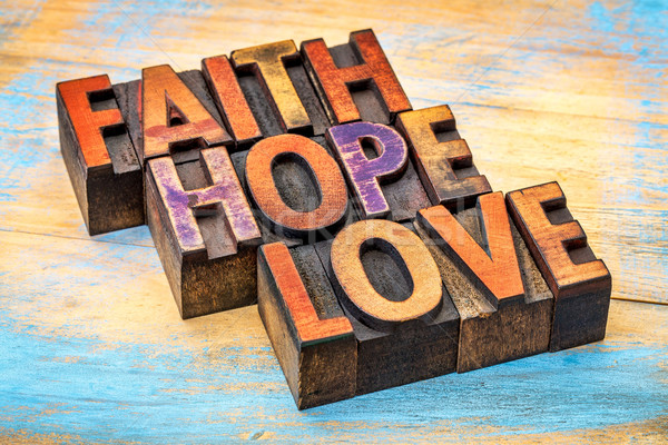 faith, hope and love typography Stock photo © PixelsAway