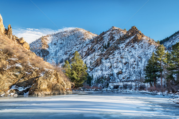 Poudre River Canyon in winter Stock photo © PixelsAway