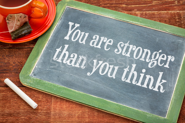 You are stronger - motivaitonal message Stock photo © PixelsAway