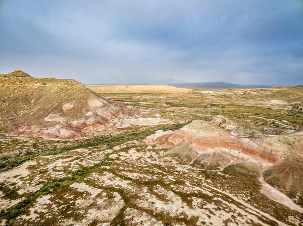 Utah badlands aerial view Stock photo © PixelsAway