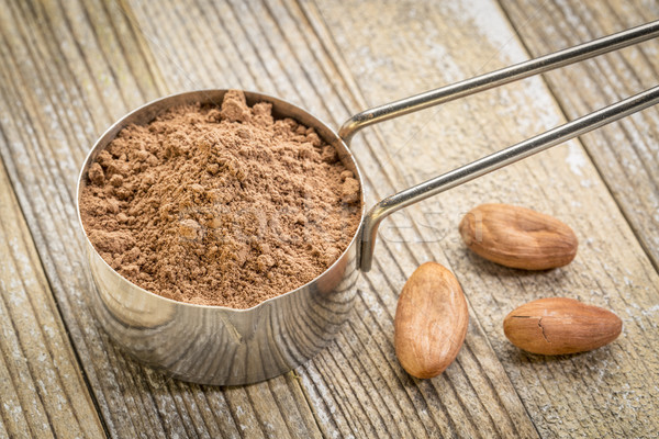 Kepçe kakao toz fasulye Metal Stok fotoğraf © PixelsAway