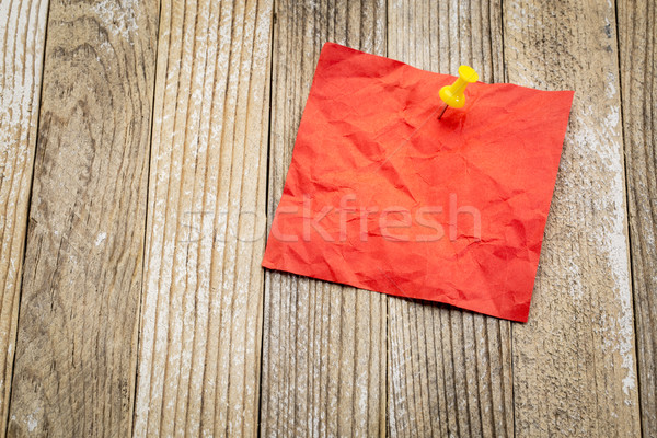 blank red sticky note on grunge wood Stock photo © PixelsAway