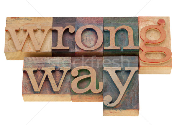 wrong way Stock photo © PixelsAway