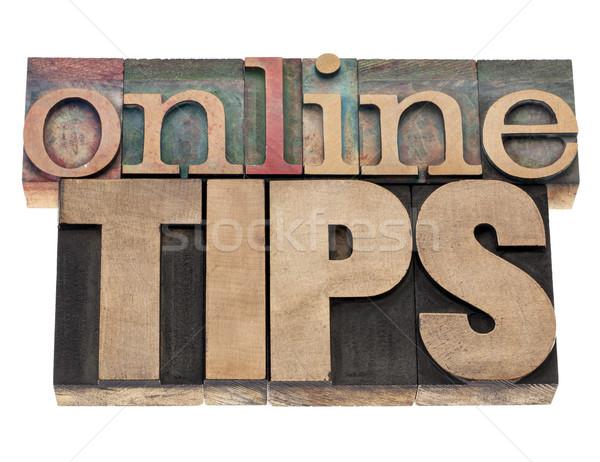 Ligne conseils internet aider isolé texte Photo stock © PixelsAway