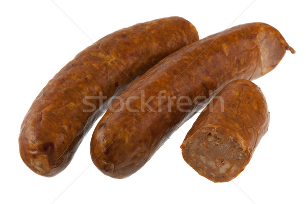 chorizo sausage on white Stock photo © PixelsAway
