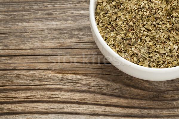 Kuru keklikotu ot seramik çanak gıda Stok fotoğraf © PixelsAway