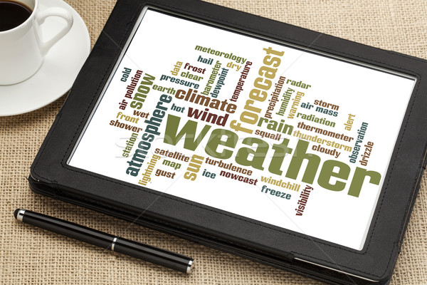weather word cloud Stock photo © PixelsAway