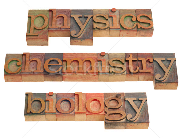 Physique chimie biologie naturelles science mots Photo stock © PixelsAway