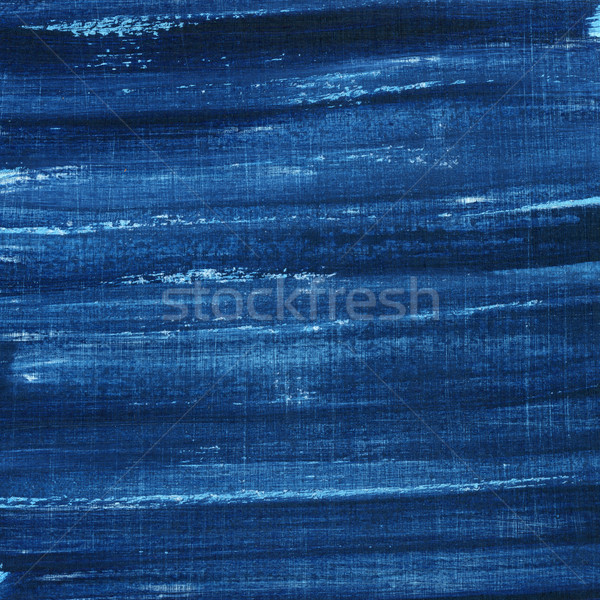 Stock photo: blue grunge painted and scratched texture