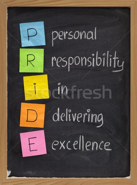 Personal responsabilidad excelencia orgullo pizarra color Foto stock © PixelsAway