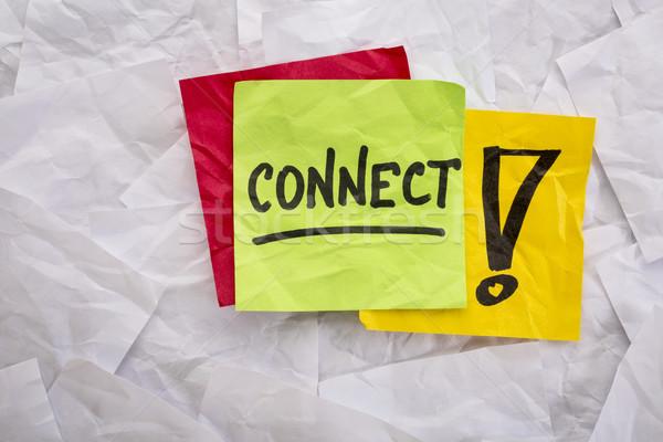 Bağlamak hatırlatma dikkat ağ renkli Stok fotoğraf © PixelsAway