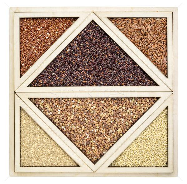 Stockfoto: Variëteit · glutenvrij · Rood · zwarte · bruin