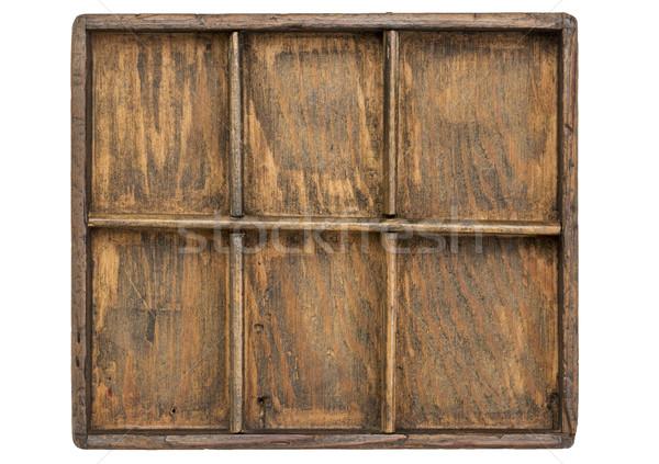 Vieux cas faible bois type tiroir Photo stock © PixelsAway