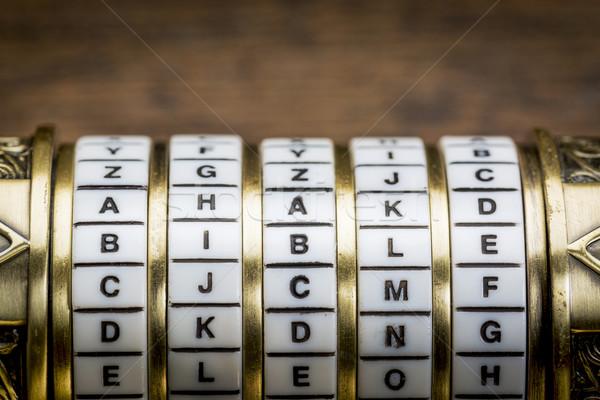 Biblii słowo hasło połączenie puzzle polu Zdjęcia stock © PixelsAway