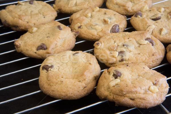 coolling racks with freshly baked cookies Stock photo © PixelsAway