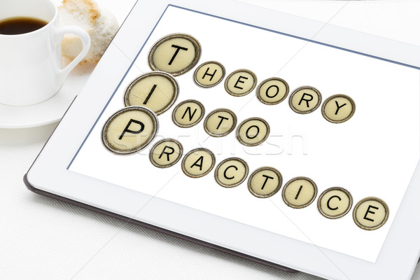 theory into practice Stock photo © PixelsAway