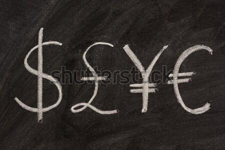 male and female gender symbols  on blackboard Stock photo © PixelsAway