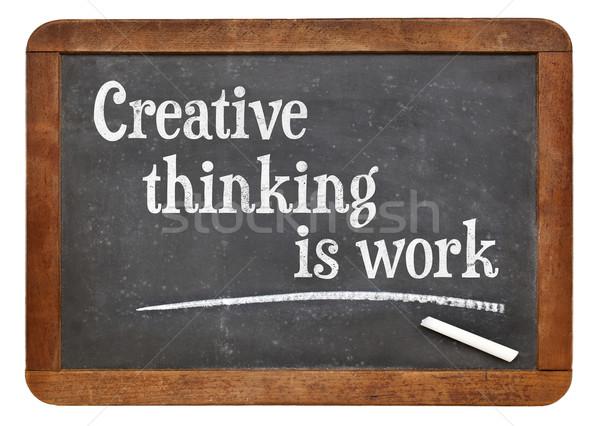 創造的思考 作業 文字 ヴィンテージ ストックフォト © PixelsAway