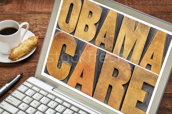 obamacare typography on laptop screen Stock photo © PixelsAway