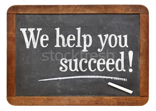 Segítség siker iskolatábla marketing szöveg klasszikus Stock fotó © PixelsAway