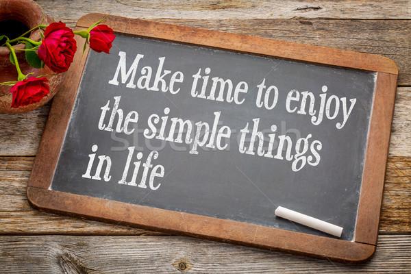 Make time to enjoy simple things Stock photo © PixelsAway