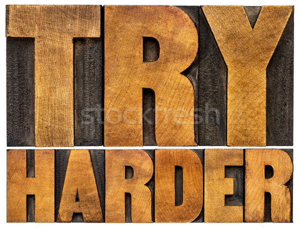 try harder motivational advice Stock photo © PixelsAway