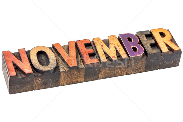 November month in wood type Stock photo © PixelsAway