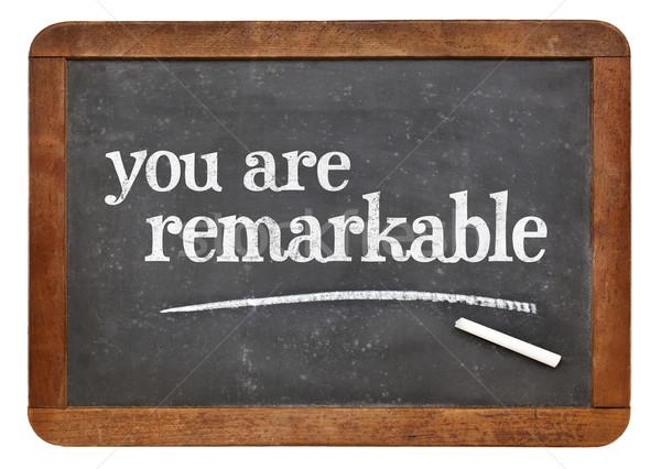 Blackboard positief woorden vintage succes concept Stockfoto © PixelsAway