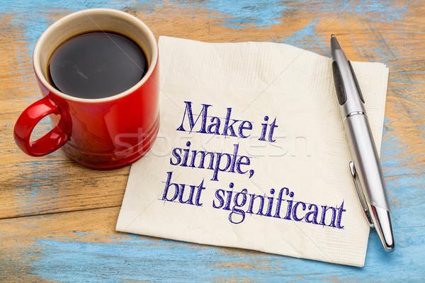 Simple significativo consejo servilleta Foto stock © PixelsAway