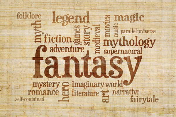 fantasy word cloud on papyrus paper Stock photo © PixelsAway