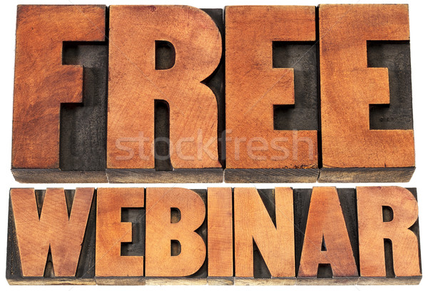 free webinar banner  in wood type Stock photo © PixelsAway