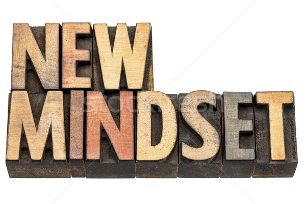 new mindset in wood type Stock photo © PixelsAway