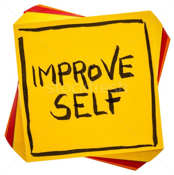 Javít motivációs emlékeztető kézírás izolált öntapadó jegyzet Stock fotó © PixelsAway