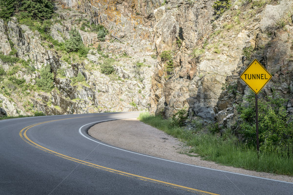 highway approaching tunnel in Poudre Canyon Stock photo © PixelsAway