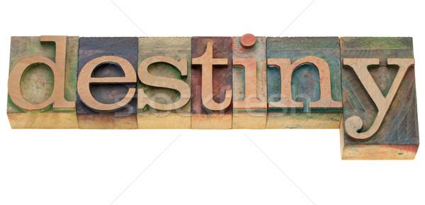 detiny word in letterpress type Stock photo © PixelsAway