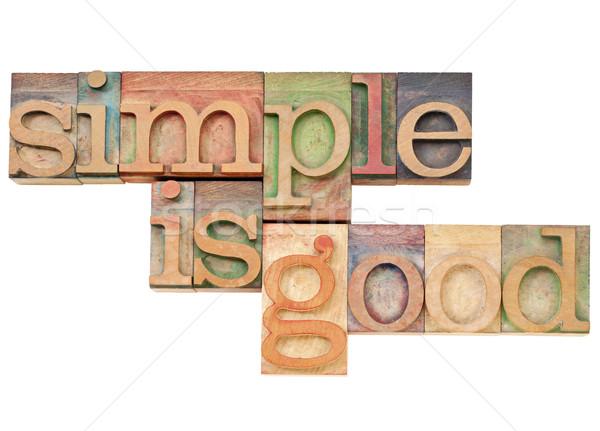 単純な 良い 単純 コンセプト 孤立した 文字 ストックフォト © PixelsAway