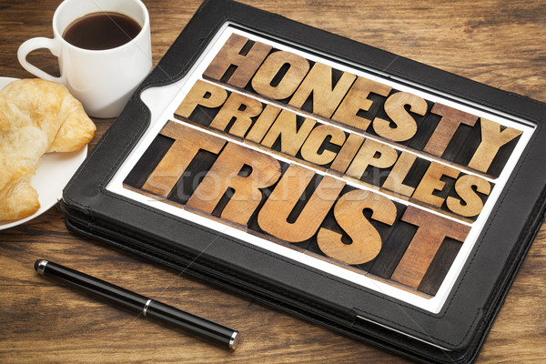 honesty, principles and trust Stock photo © PixelsAway