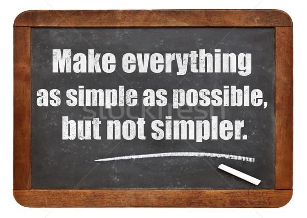 Erzeugnis einfache möglich nicht zitieren weiß Stock foto © PixelsAway