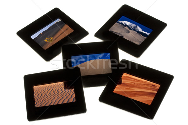 sand dunes - color slides on a lightbox Stock photo © PixelsAway