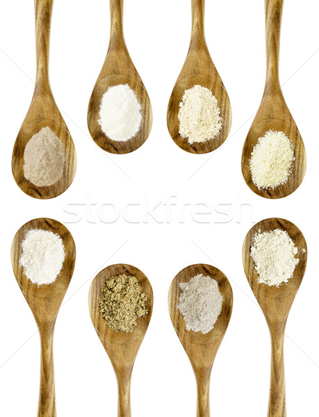 gluten free flour spoon collection Stock photo © PixelsAway