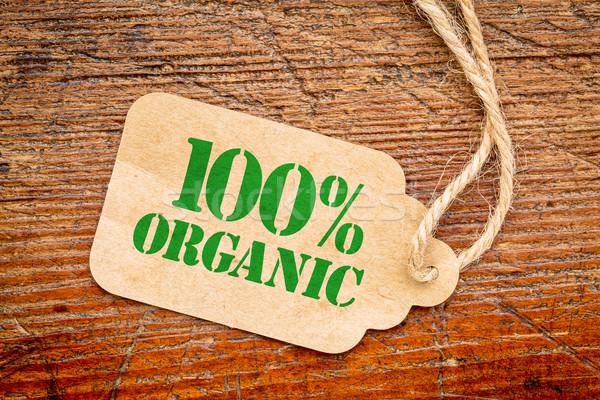 Jeden sto procent organiczny podpisania cena Zdjęcia stock © PixelsAway