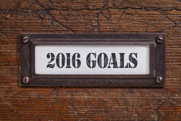 2016 goals - file cabinet label Stock photo © PixelsAway